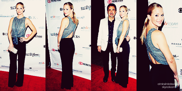 * 03/11/2012-  AJ à participé au ACT Today!'s 7th Annual Denim & Diamonds For Autism Benefits avec 2 co-stars de criminal minds, Joe Mantegna and Shemar Moore.  *
