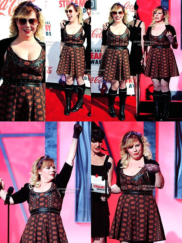 * 17/02/2013-  Kirsten Vangsness était au Hollywood Palladium de Los Angeles pour la cérémonie des Streamy Awards *