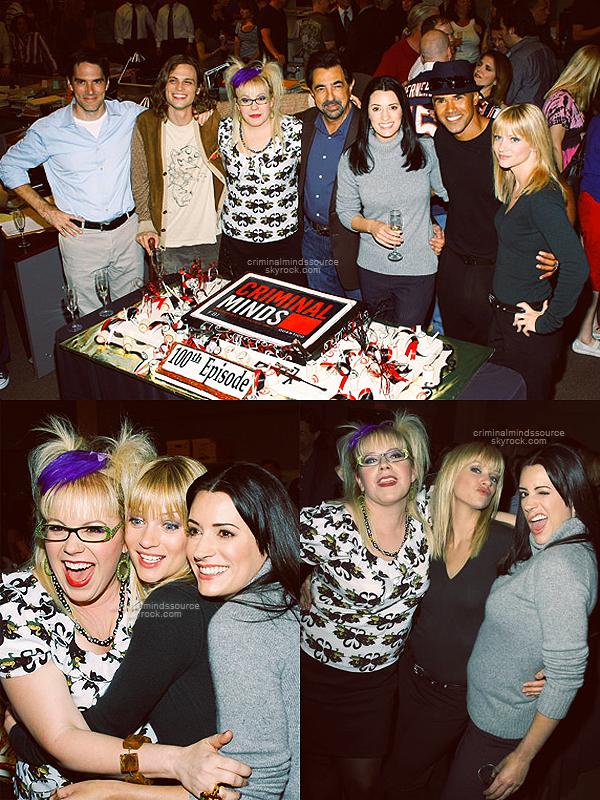 * FLASHBACK 2009;  Tout le cast était présent pour célébrer le 100ieme épisode de la série *