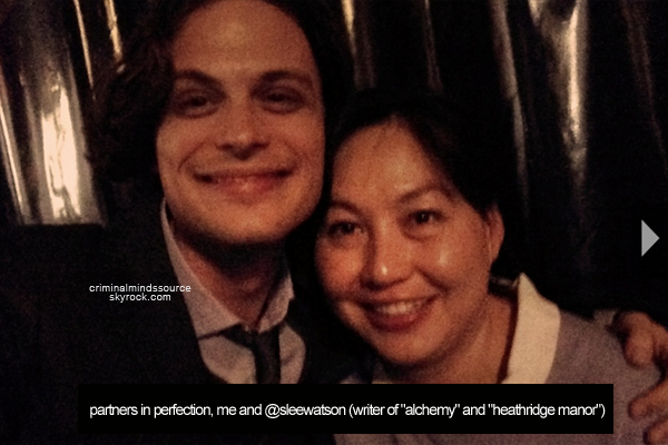 * 12-13/03/2013 2 photos de Matthew sur le tournage du 8x20 Alchemy *