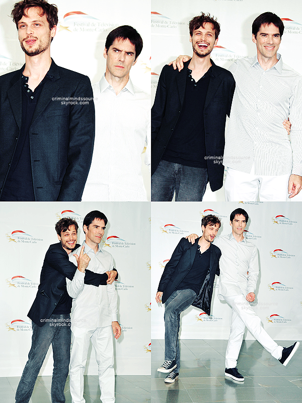 * FLASHBACK 8 juin 2011;  Matthew et Thomas étaient au 51st Monte Carlo Television Festival *