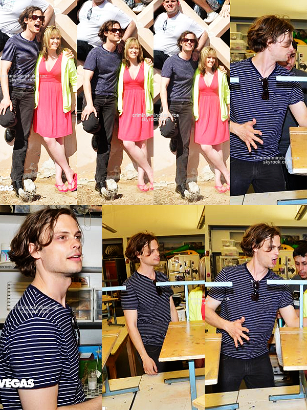 * 30 Mars 2013 Matthew de retour à Las Vegas pour celebrer le 20ieme anniverssaire de l'academie des arts  *