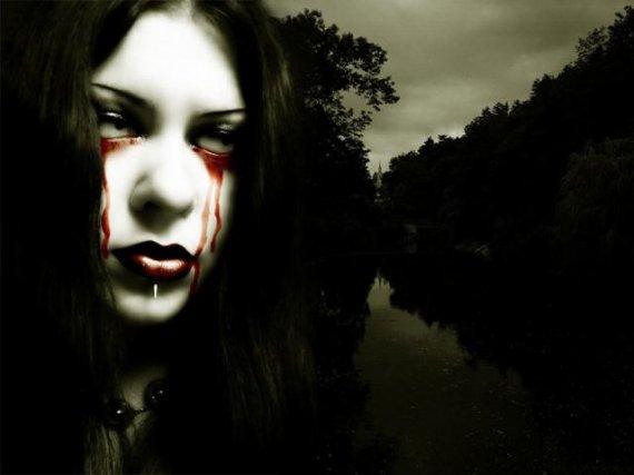 une goutte de sang
