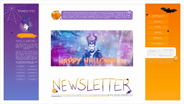 """---Version temporaire spéciale """"Halloween 2015"""" sur Disruptions (Octobre 2015)---"""