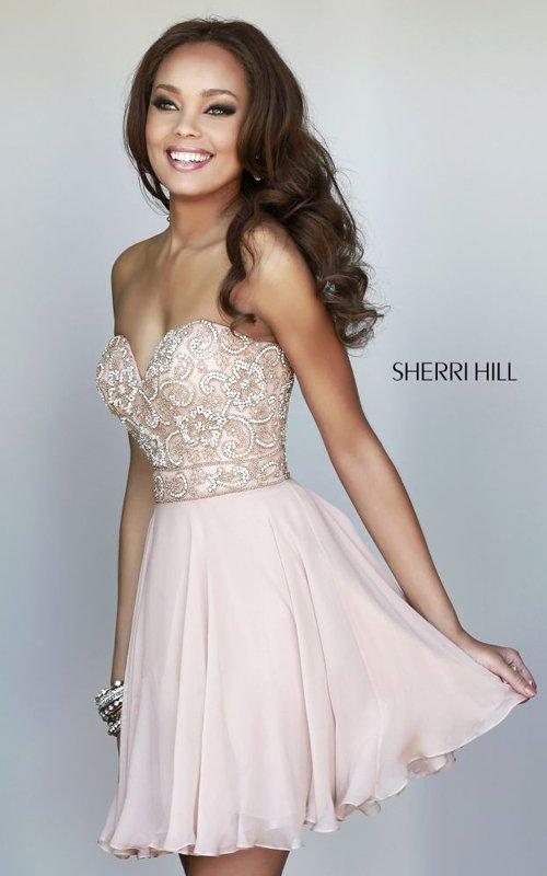 Sherri Hill 8548 Chiffon Layered Homecoming Dress