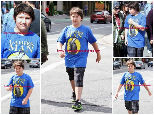 Frankie Jonas: waking to McDonald's- July 24, 2012