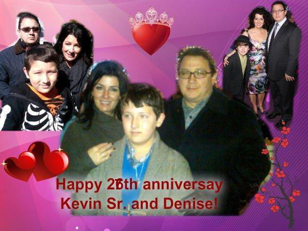 Happy 27th anniversary Kevin Sr and Denise!