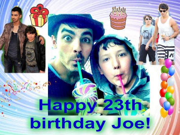 Happy 23th birthday Joseph!