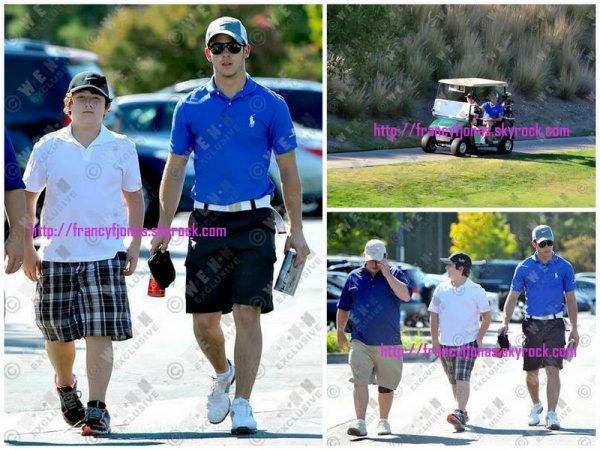 Frankie Jonas out with Nick and Papa Jonas- September 16, 2012