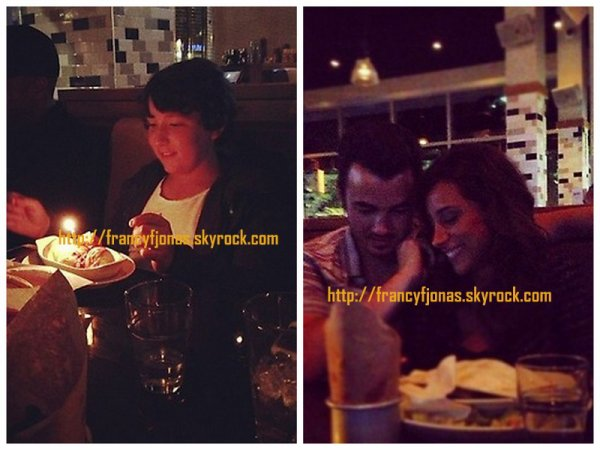 Twitter Time-  Frankie Jonas's early 12th b-day with Kevin and Danielle Jonas