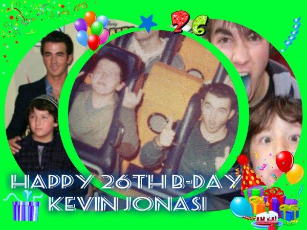 Happy 26th birthday Kevin Jonas!