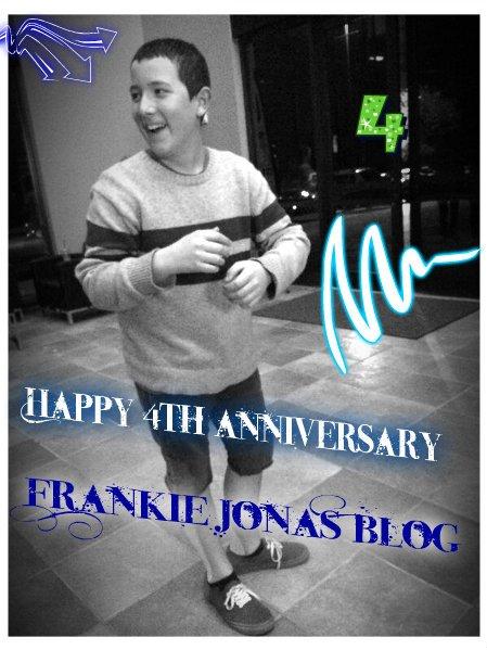 Happy 4th anniversary Frankie Jonas Blog!