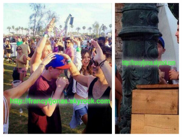 Coachella 2014- Joe Jonas with Frankie and Blanda