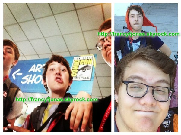 Frankie Jonas to the Comic Con 2014