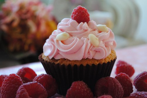 Cupcake Framboise à la Salem  <3