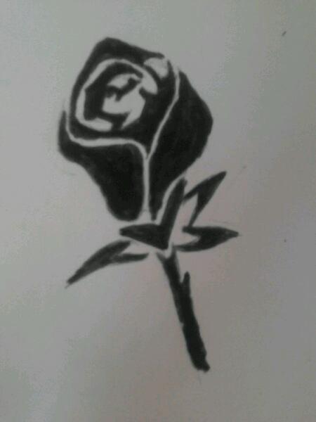 Une rose noire