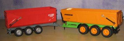 Benne Krampe 3 essieux +Joskin Trans-Space 800/27