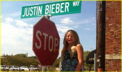 Justin Bieber a sa propre rue !!!!