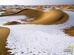 الثلج بالصحراء