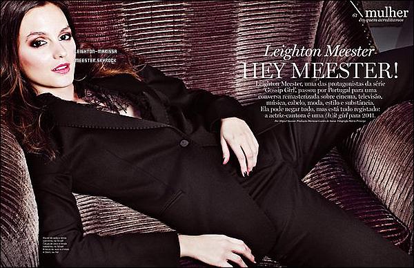_ 17/02/11. Mlle. Leighton Meester  combattant avec le froid sur le tournage de Gossip Girl à New York........ 17/02/11. Photos aditionelles de Leighton Meest. lors de l'after-party du défilé Marc Jacobs. ( article )....__.. Fev. -11'.  Scan exclusif de Leighton posant pour le magazine américain Luxwoman. Tu aime la photo ?_._.    _