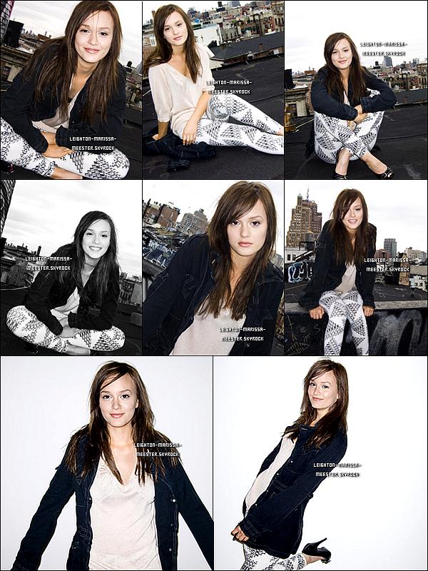 PHOTOSHOOT   Photos réalisées lors du shoot de Leighton pour le magazine « Giant », debut 2008.