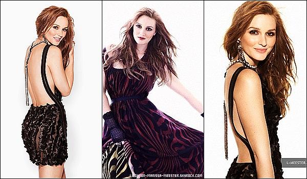 PHOTOSHOOT Leighton Meester, sexy et ravissante, pour le magazine  Cosmopolitan   (Version UK)