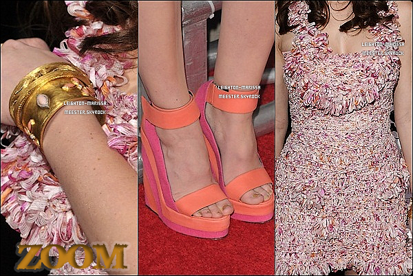 _ 14/12/10__Leighton à l'avant-premiere de son film « Country Strong » avec le casting  à Los Angeles. Photos de l'evenement et Zoom sur la tenue très girly de Leighton ci-dessous._. Tenue a jeter ou à garder ?   _