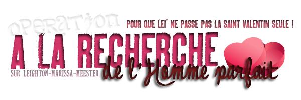 _   Opération . « A LA RECHERCHE DE L'HOMME PARFAIT ( OU PAS ) POUR LEI' ! »   1. LA COUPE ( VOIR ) // 2. LE REGARD ( VOIR ) // 3. BOUCHE & NEZ ( VOIR ) // 4. LE CORPS ( VOIR ) // 5. RESULTAT ( VOIR )    _