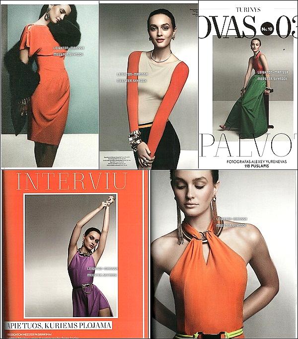 _   Leighton en couverture du magazine  « L'Officiel Lytuania » pour le mois de Mars. TU AIME LE SHOOT ? _