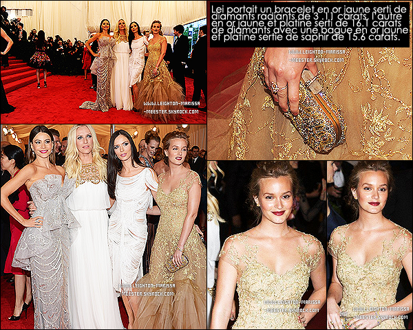 "_  07/05/12_Très en beauté Leighton M. était présente au Metropolitan Museum of Art Costume Gala. + Découvre deux vidéos ( ici et ici ) promotionnelles de l'épisode finale de Gossip Girl (saison 5) nommée : "" The Return of the Ring "".  _"