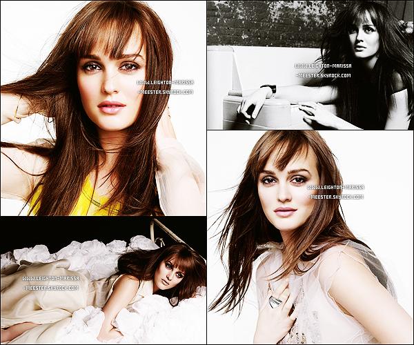Découvrez ce photoshoot de Leigh' fait pour le magazine Marie Claire US en 2012 !  Je n'apprécie pas spécialement ce photoshoot, je trouve l'ambiance trop vieillot ! Et vous ?  [/alig fen]