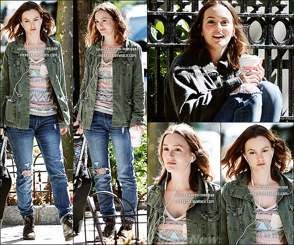 17/09/13  Leighton sur le tournage de son nouveau film «Like Sunday, Like Rain » à Manhattan ! [/alig fen]