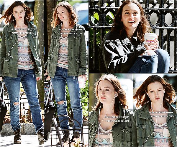 17/09/13  Leighton sur le tournage de son nouveau film «Like Sunday, Like Rain » à Manhattan ![/alig fen]