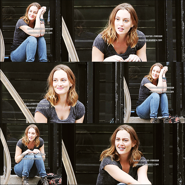 22/09/13 :   Leighton photographiée sur le tournage de son film «Like Sunday, Like Rain » à New York ! [/alig fen]