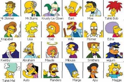 Les simpsons personnages ma petite vie x3 - Tout les personnage des simpson ...