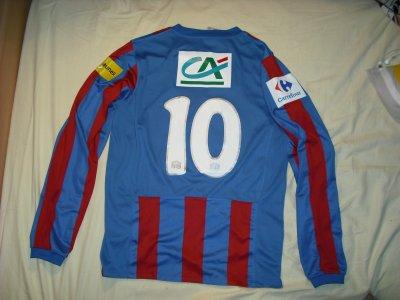 Maillot de Benjamin Nivet  Caen - Lyon le 08/01/2011    Coupe de France