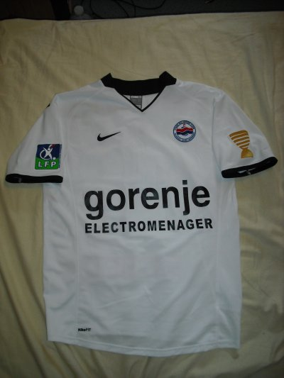 Maillot de Fahid Ben Khalfallah Le Havre - Caen le 24/09/2008       Coupe de la Ligue