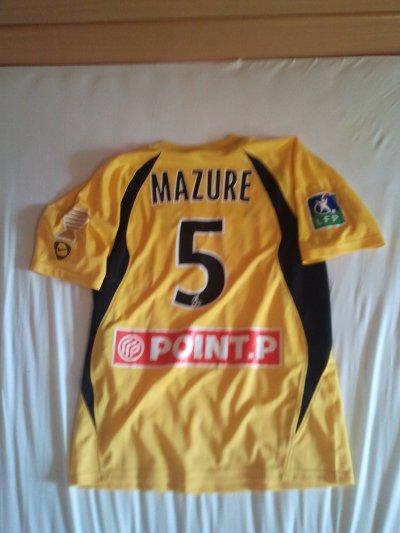 Maillot de Sébastien Mazure !      Coupe de la Ligue Toulouse - Caen (26/09/2007)