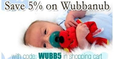 Save 5% on Wubbanub