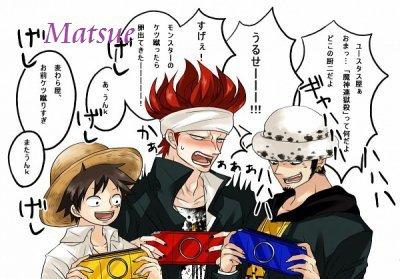 Luffy / Eustass Kid / Trafalgar Law, Made in One Piece