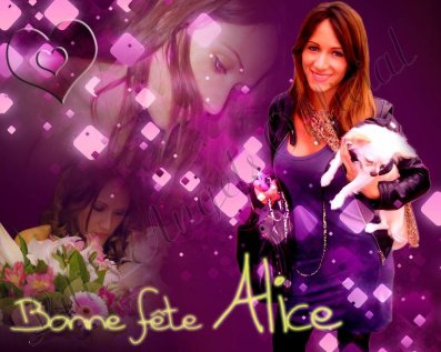 BONNE FETE ALICE !!!