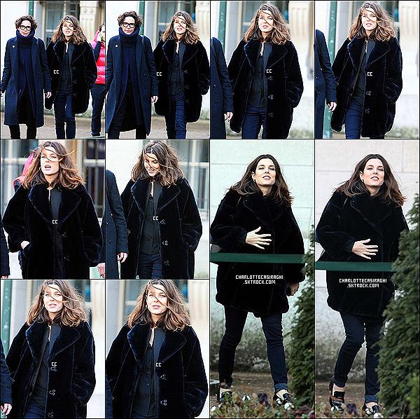 14/01/14 : Plus belle que jamais, Charlotte Casiraghi a été à l'exposition Cartier au Grand Palais à Paris.  On voit Charlotte heureuse, souriante, et vraiment en pleine forme après son accouchement - C'est une tenue assez classe, Top !