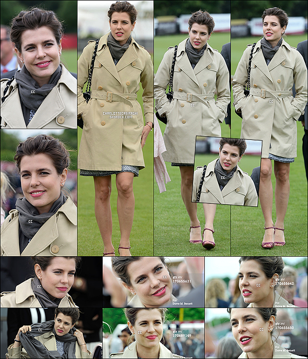 16/06/13 : Charlotte Casiraghi a assisté à la final du The Cartier Queen's Cup à Egham, en UK.   On peut voir une Charlotte, toujours aussi souriante, et surtout magnifique. - C'est une tenue classe et très chic, Top !