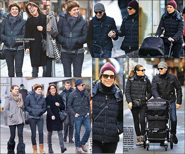 11/02/14 : La famille Casiraghi et Gad Elmaleh ont été vus dans les rues de Monaco avec le nouveau né.  On voit une Charlotte belle, heureuse, souriante, et amoureuse - C'est une tenue assez simple, une tenue d'hiver quoi ! Top !