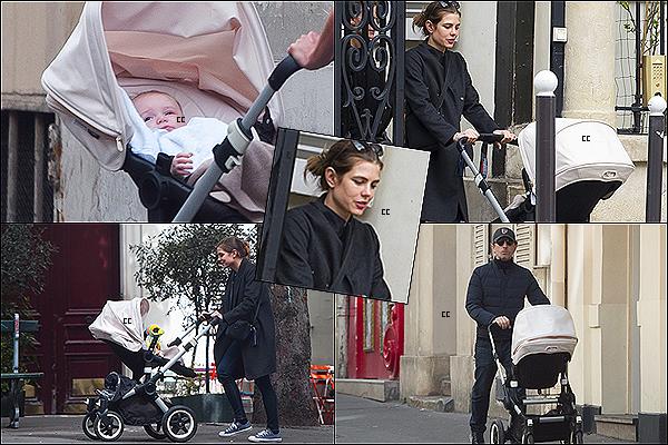 14/04/14 : Charlotte & Gad, ont été vus dans les rues de Paris avec le petit Raphael.  On voit une Charlotte belle, heureuse, souriante - C'est une tenue assez simple, mais a la fois classe, Top !