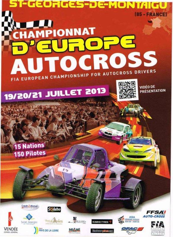 Affiche Championnat d'Europe d'autocross