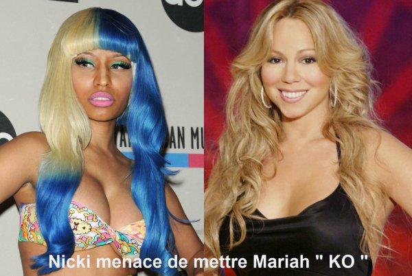 Mariah Carey et Nicki Minaj : insultes et menaces