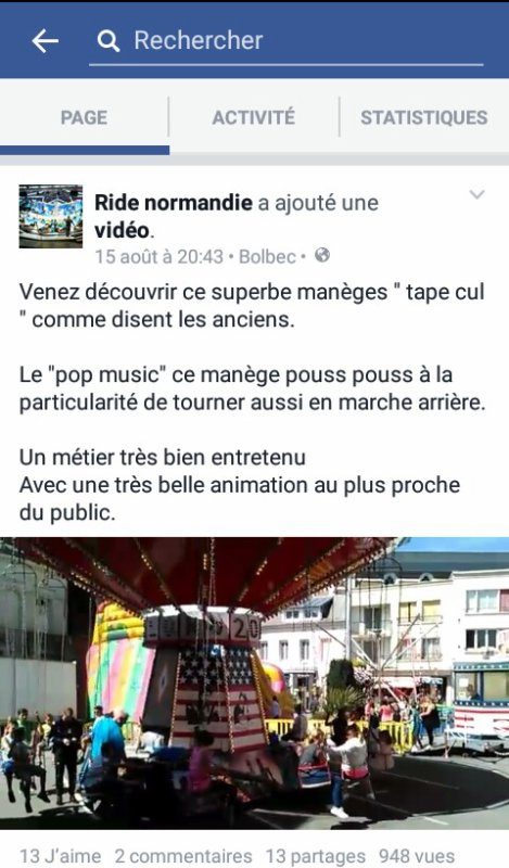 "Ma Page facebook ""ride Normandie"""