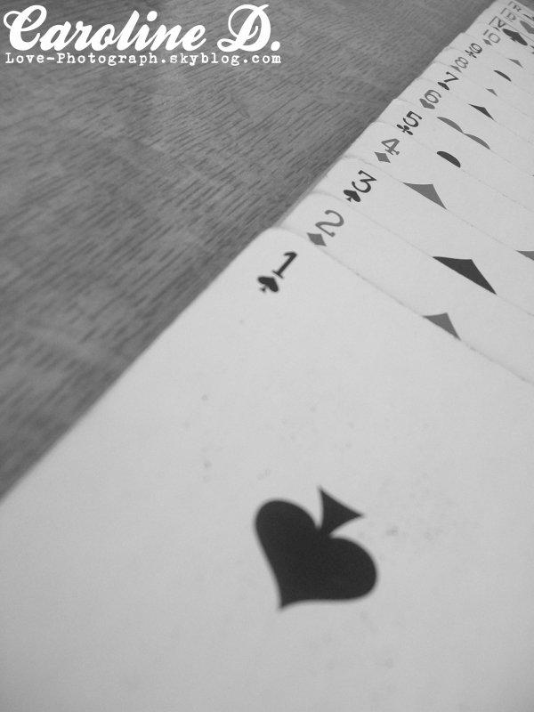 La vie est un jeu de cartes dont le coeur n'est jamais l'atout.     M. Achard