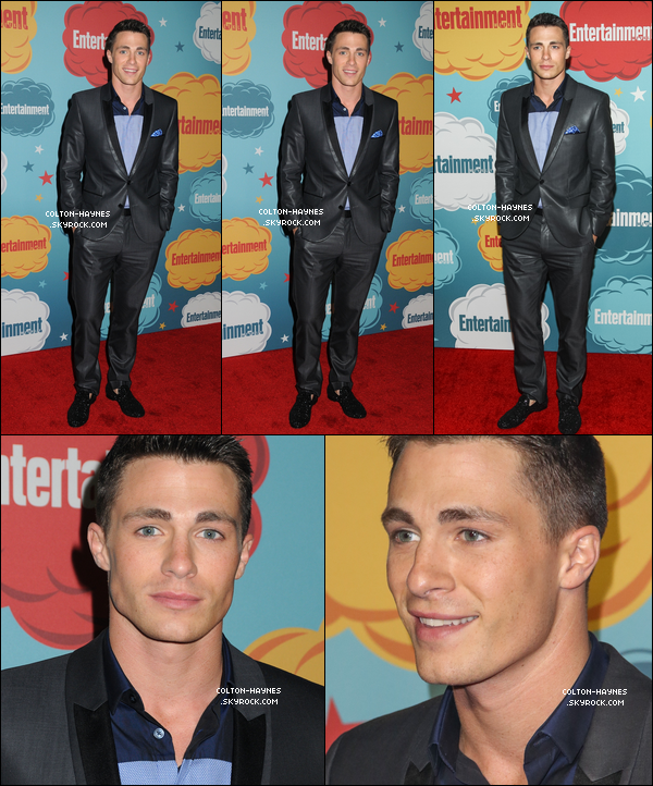 . Col' a posé sur le tapis rouge du Entertainment Weekly's Annual Comic Con, le 20 Juillet. .